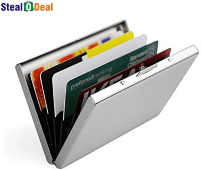 Stealodeal Stainless Steel Pocket Business Credit Debit 6 Card Holder