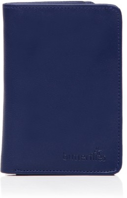 Butterflies Men Casual Blue Artificial Leather Wallet