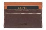 Rene 4 Card Holder (Set of 1, Brown)