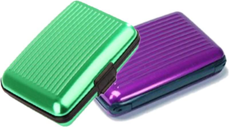 Alexus 6 Card Holder Card Holder Combo of Green Purple