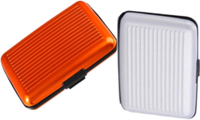 Alexus 6 Card Holder Card Holder Combo of Orange White