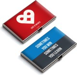 QuoteSutra 10 Card Holder (Set of 2, Red...