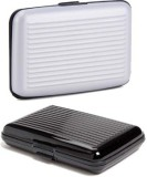 Squeeze 6 Card Holder (Set of 2, Silver,...