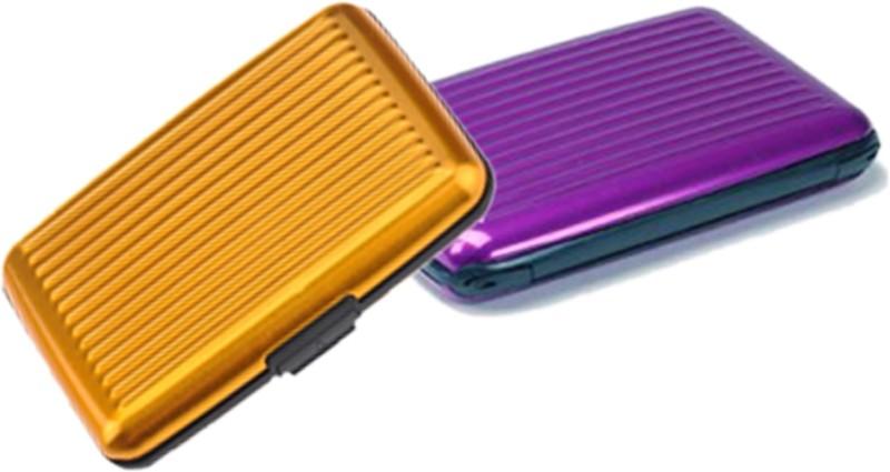 Alexus 6 Card Holder Card Holder Combo of Yellow Purple