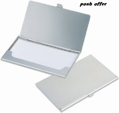 POSH OFFER Silver Plated Business Case 6 Card Holder