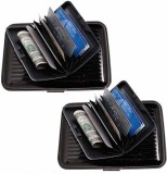 Chevron 6 Card Holder (Set of 2, Black, ...