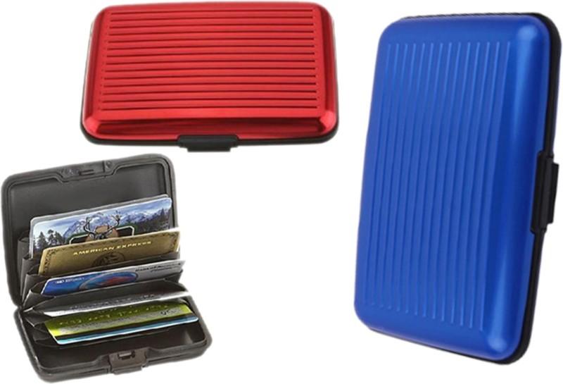 Alexus 6 Card Holder Card Holder Combo of Red Blue