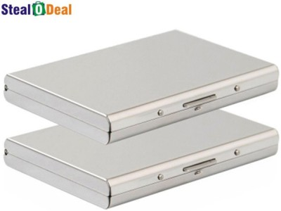 Stealodeal Silver Plated Business Case 6 Card Holder