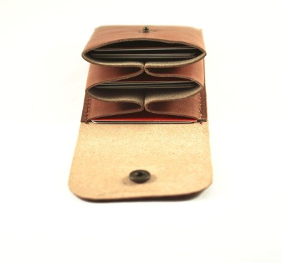 Rocciaindiano Handcrafted Card Holder Cum Minimal Wallet 15 Card Holder