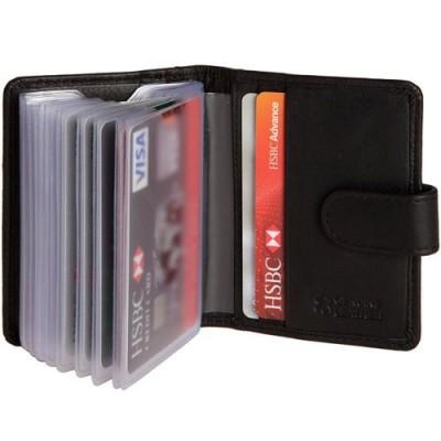 hide and sleek Soft Leather Credit 20 Card Holder