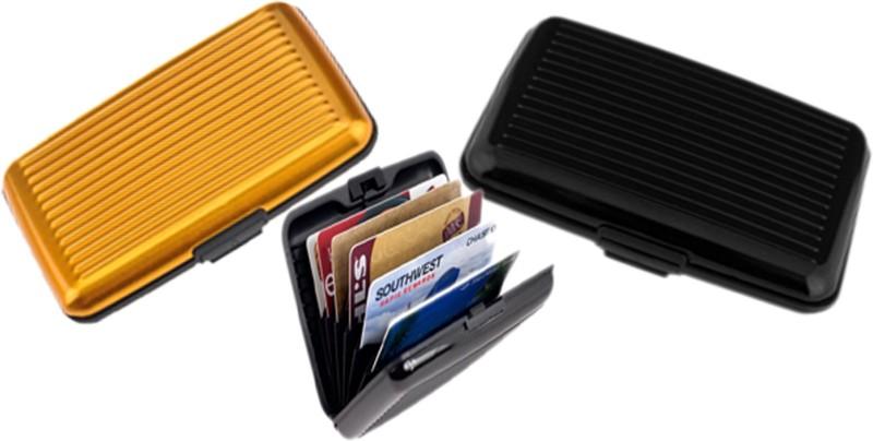Alexus 6 Card Holder Card Holder Combo of Black Yellow