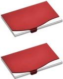 Zarsa 10 Card Holder (Set of 2, Red)