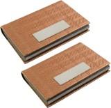 JM 6 Card Holder (Set of 2, Brown)