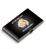QuoteSutra 10 Card Holder (Set of 1, Bla...