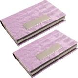 JM 6 Card Holder (Set of 2, Pink)