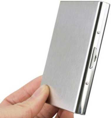 Empreus Stainless Steel Silver 6 Card Holder