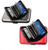 Chevron 6 Card Holder (Set of 2, Red, Bl...