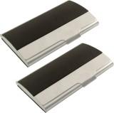 JM 6 Card Holder (Set of 2, Silver, Blac...