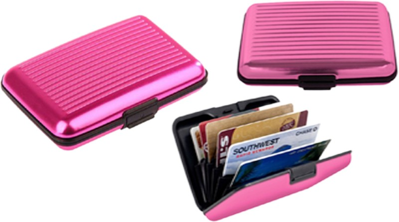 Alexus 6 Card Holder Card Holder Combo of Pink