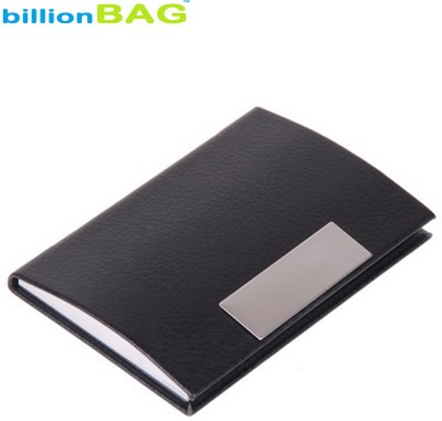 billionBAG | High Quality | Black Steel (Business Card / ID / ATM) 6 Card Holder
