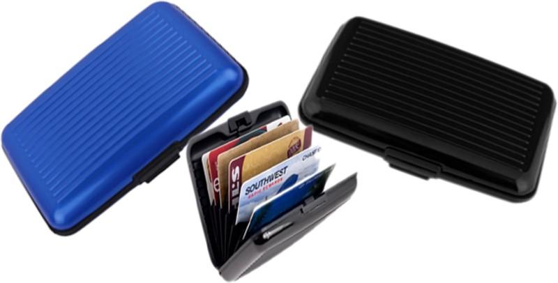 Alexus 6 Card Holder Card Holder Combo of Black Blue