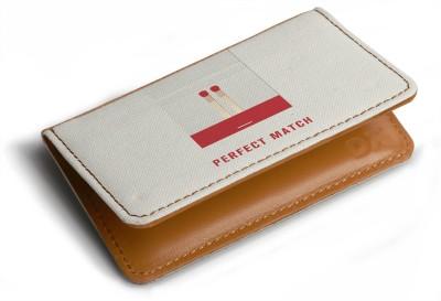 DailyObjects Unisex Designer Card Wallet cum Holder 3 Card Holder(Set of 1, White)