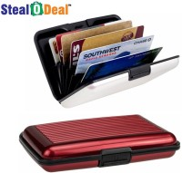 Stealodeal Red and White Security Credit/Debit 6 Card Holder(Set of 2, Red, White) best price on Flipkart @ Rs. 199