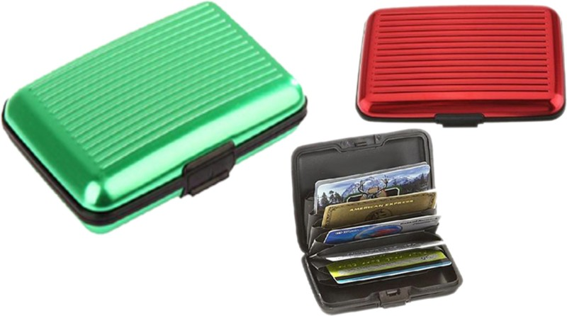 Alexus 6 Card Holder Card Holder Combo of Red Green