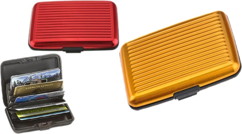 Alexus 6 Card Holder Card Holder Combo of Red Yellow