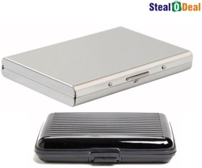 Stealodeal Luxury Steel Aluminum With Waterproof Aluma 6 Card Holder