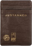 Justanned 4 Card Holder (Set of 1, Brown...