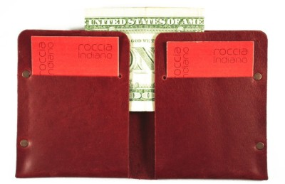 Roccia Indiano Handcrafted Card Holder Cum Minimal Wallet 8 Card Holder