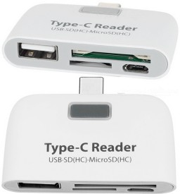 A Connect Z TypeC-CR-002-AcZ101 Card Reader(White)