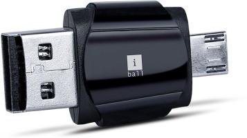 iBall HybridDual Card Reader(Black)