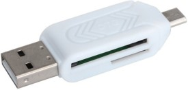 BB4 USB 2.0 + Micro OTG SD T-Flash Adapter for Cell Phone PC Card Reader(White)
