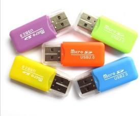 smcd Memory Card Reader T/F Card Reader Miro SD Card Reader ( Design May Vary ) Card Reader(Multicolor)