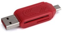 BB4 USB 2.0 + Micro USB OTG SD T-Flash Adapter for Cell Phone PC Card Reader(Red)
