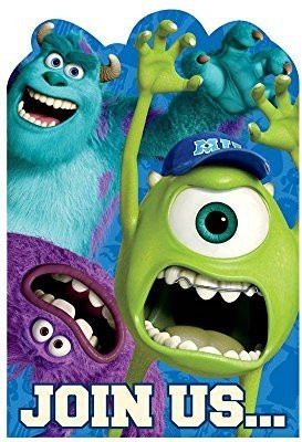 Amscan Monsters University Inc. Invitations Invitation Card(Multicolor, Pack of 1)
