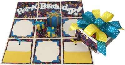 Crack of Dawn Crafts Birthday Handmade Explosion Gift Box - Party Time Greeting Card