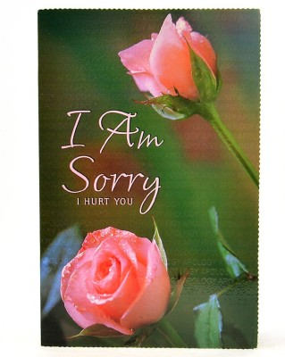 Reliable Pink Rose I am Sorry Greeting Card