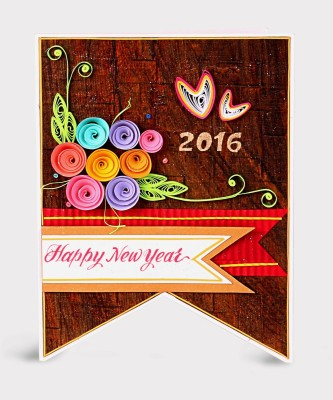 Handcrafted Emotions New Year Greeting Card