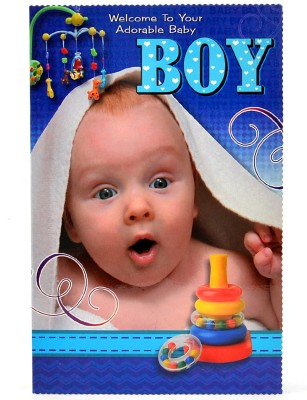Reliable Adorable Baby Boy Greeting Card