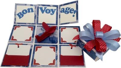 Crack of Dawn Crafts Bon Voyage Handmade Travel Explosion Gift Box Greeting Card
