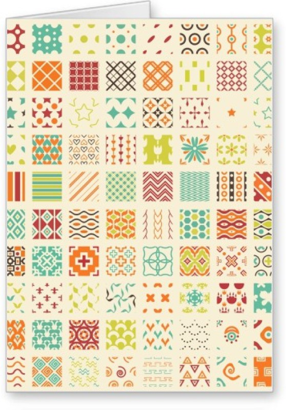 Lolprint Pattern Greeting Card(Multicolor, Pack of 1)