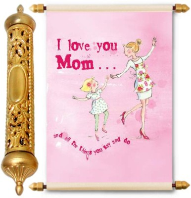 Lolprint Gold Mothers Day Gift Scroll Greeting Card(Multicolor, Pack of 1)