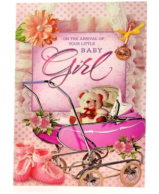 Reliable Very Cute Baby Girl Greeting Card