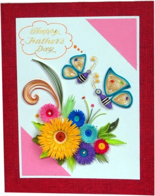 Handcrafted Emotions Father's Day Special Greeting Card