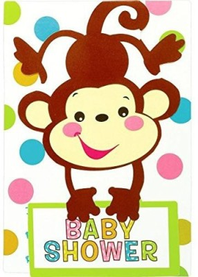 Amscan Fisher Price Baby Folded Invitations Invitation Card(Multicolor, Pack of 8)