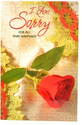 Reliable Single Red Rose Sorry Greeting Card