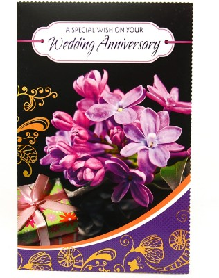 Reliable Precious Purple Anniversary Greeting Card